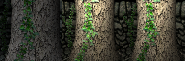 3d ivy on a tree