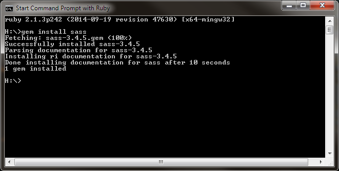 command prompt with ruby